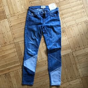 Current Elliott patchwork jeans